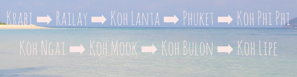 Krabi Island Hopping: Krabi to Koh Lipe (Map)