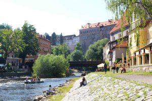 krumlov castle, moldau, czech republic, travel, boat trip