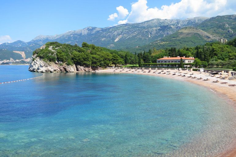 Queens Beach, beaches in Montenegro, coast,