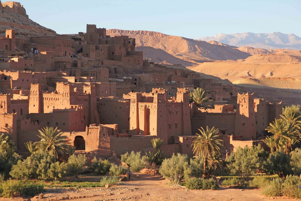 Ait Ben Haddou sunset view, hotel view
