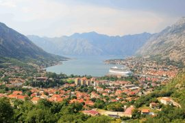Kotor Bay View, coast, Adria, viewpoint, fjord