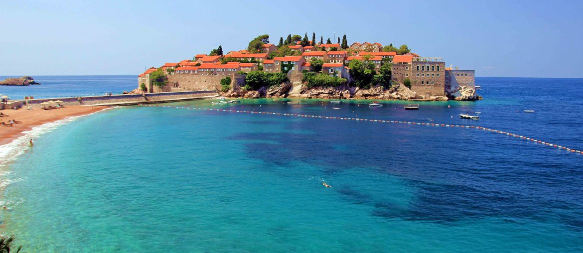 Sveti Stefan, beach, hotel, sight, tourist attraction