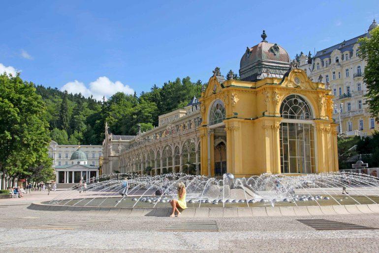Marienbad, sightseeing, czech republik, spa colonnade