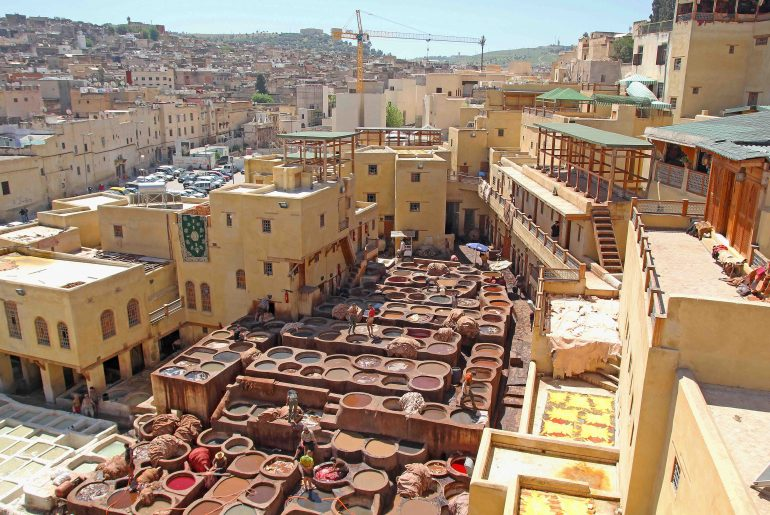 Chouara, Chaouwara, Tannery, Fes, Tanneries, leather Tannery, old town, medina, tourist attraction