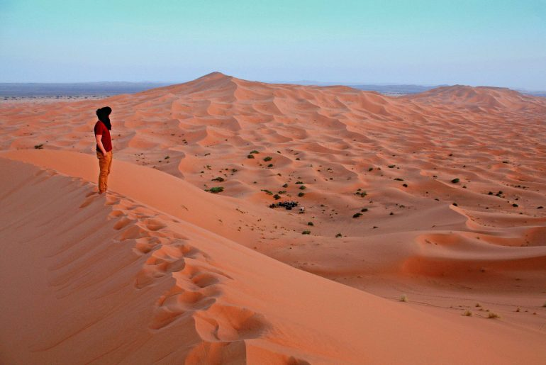 Merzouga, Sahara, high dunes, Desert Berber Fire Camp, Camping