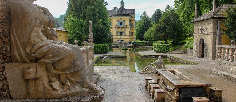 Salzburg, Trick Fountain, Wasserspiele, sight, tourist attraction, Austria