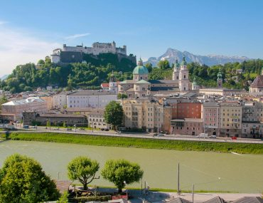 Kapuzinerberg, viewpoint, best view, sightseeing, 2 days in Salzburg
