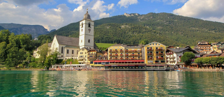 Lake Wolfgang, Wolfgangsee, Austria, Im Weissen Rössl, weisses Rössl, St. Wolgang, Wolfgangsee