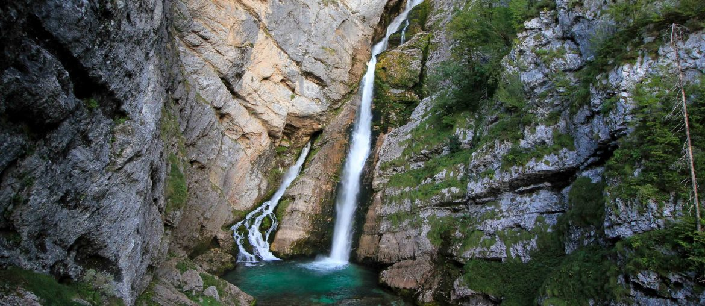 Slap Saviva, Bohinj, Triglav National Park, Waterfalls in Slovenia