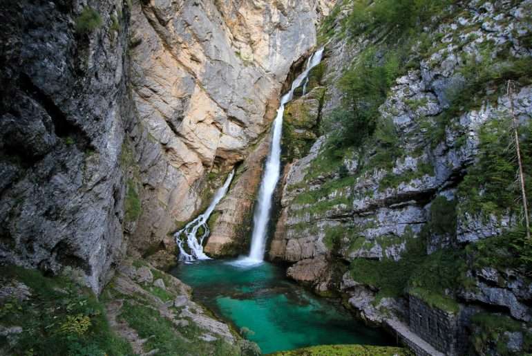 Slap Saviva, Bohinj, Triglav National Park, Waterfalls in Slovenia