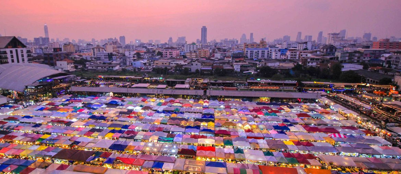 Train Night Market, Ratchada, Bangkok, New Rot Fai Market, Bangkok