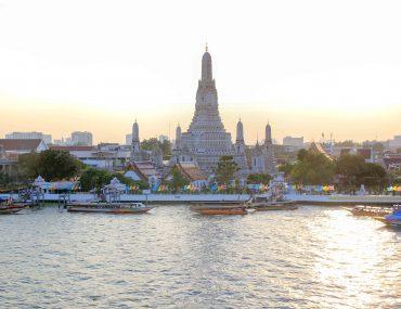 Wat Arun, Temple of Dawn, Bangkok, Sunset, Viewpoint