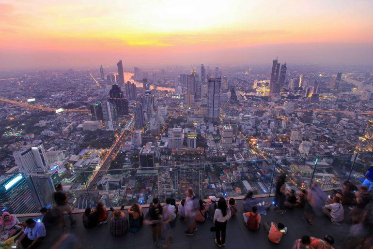 King Power Mahanakhon Tower, Skybar, Sunset, Bangkok