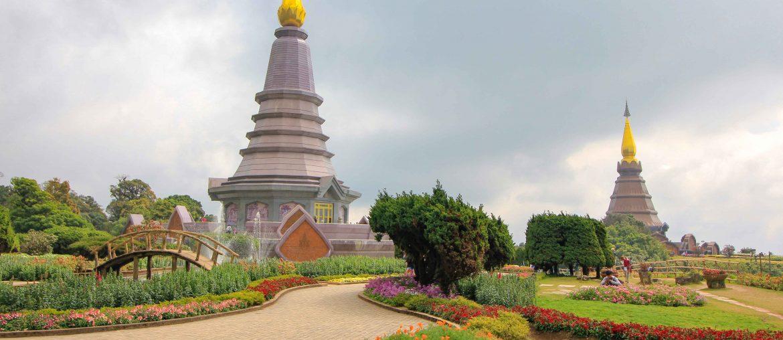 Doi Inthanon, Temple, National Park, Thailand, Chiang Mai