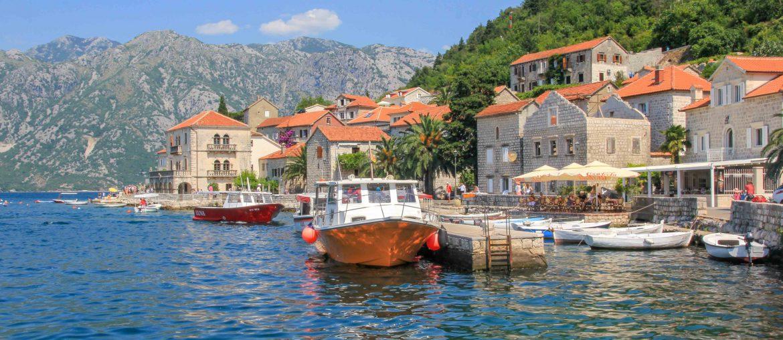Perast, Montenegro, Restaurant, Altstadt