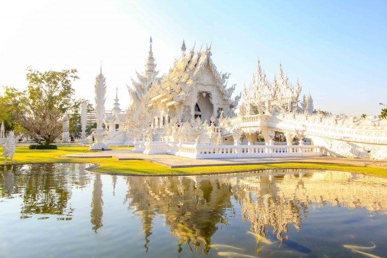 Weißer Tempel, Chiang Rai, Thailand, Ausflug ab Chiang Mai