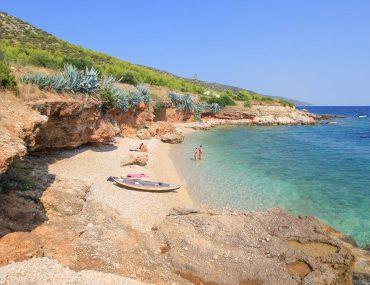 Strand Gromin Dolac, Insel Hvar, Kroatien