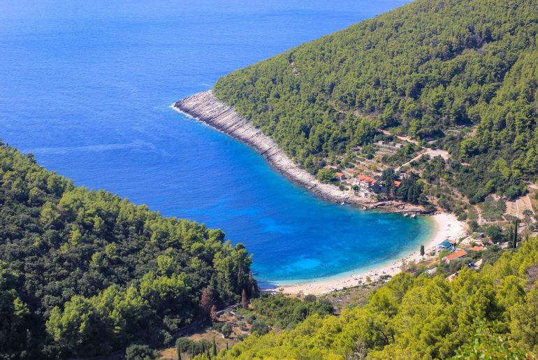 Strand Pupnatska Luka, Insel Korcula, Kroatien