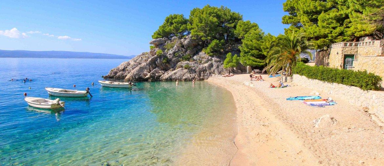 Beach Podrace, Brela, Strände, Makarska Riviera, Croatia