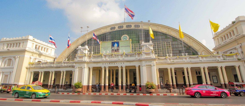 From Bangkok to Ayutthaya, Lamphong Train Station, Taxi