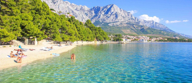 Beach Ikovac, Baska Voda, Makarska Riviera, Croatia